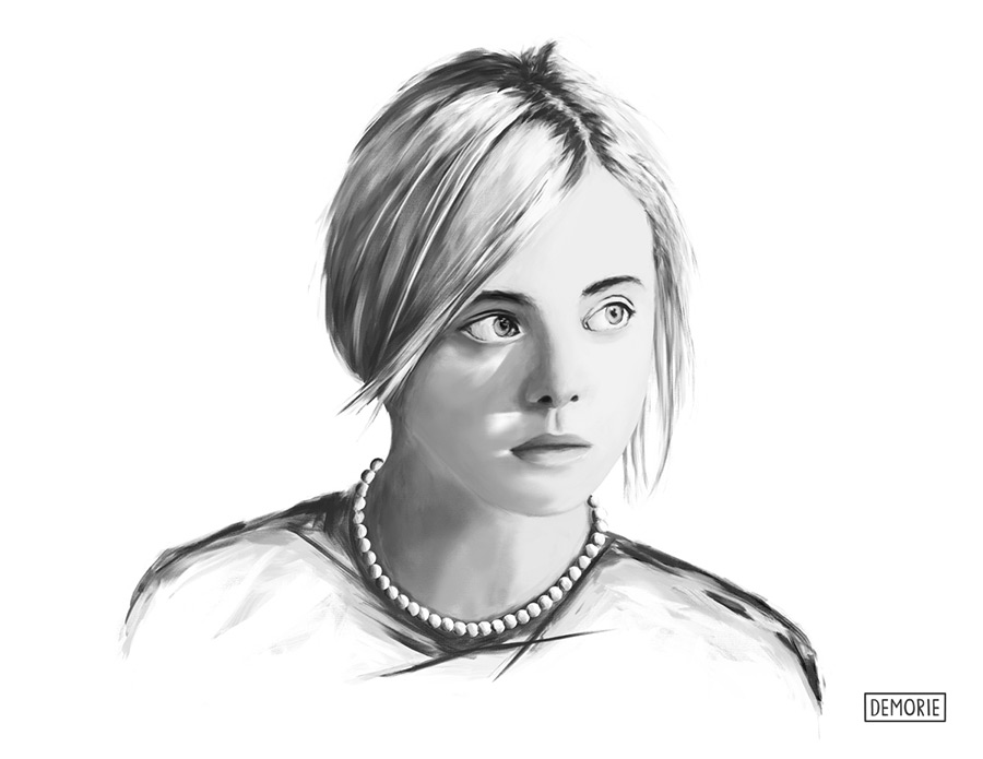 Elle Fanning - Portrait Drawing