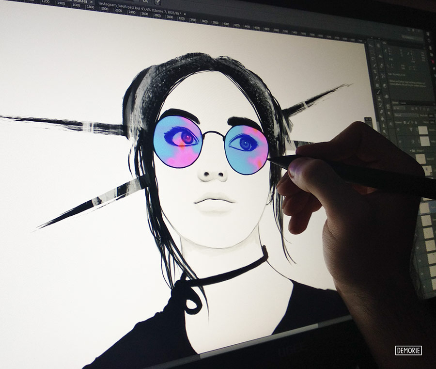 Maisie Williams portrait drawing