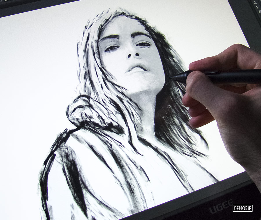 Digital Portrait Drawing - wip