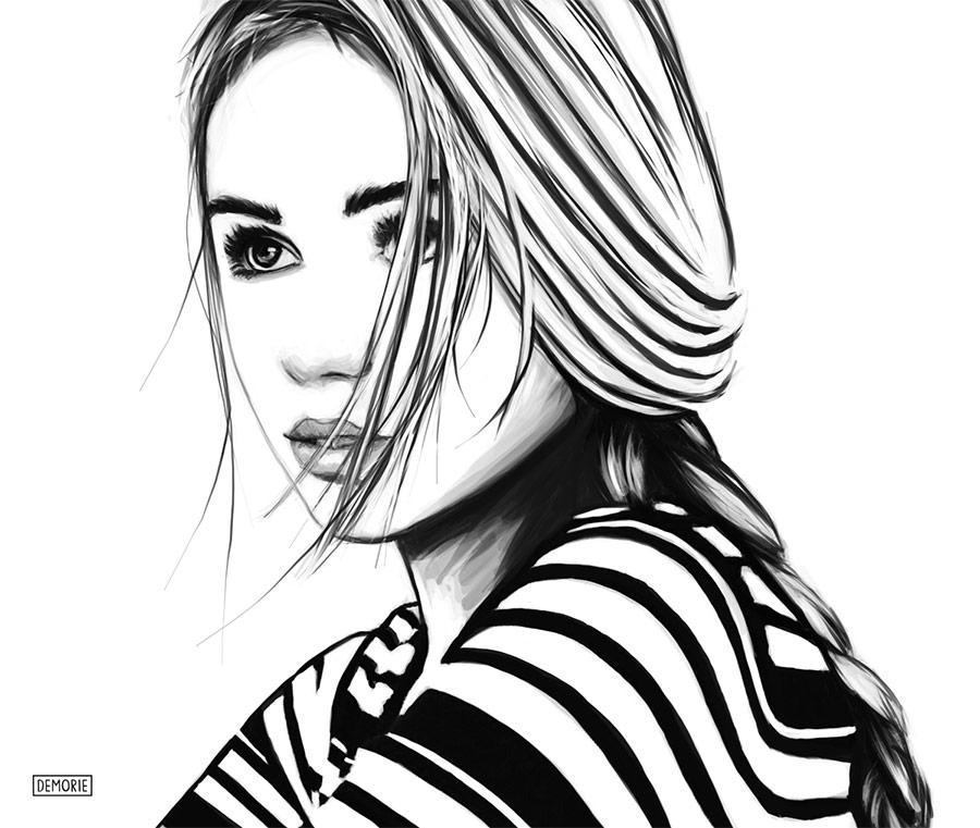 Scarlett Leithold - Portrait drawinga