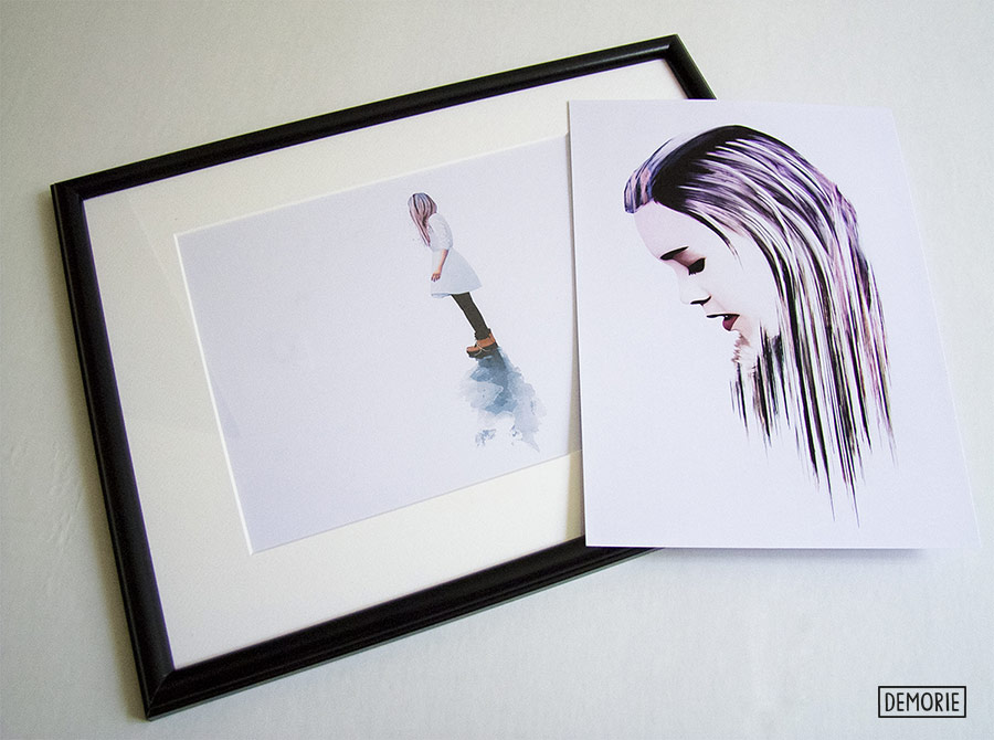 inside your mind print and blue mirror by demorie
