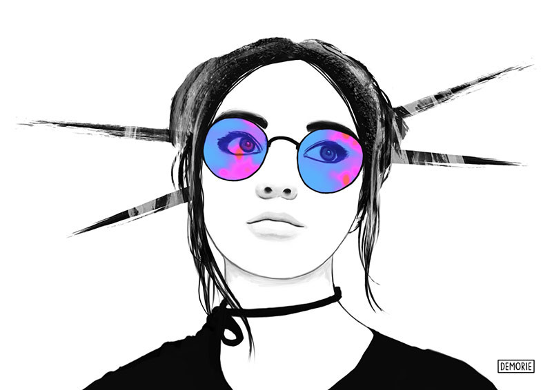 Maisie Williams Digital Portrait Drawing