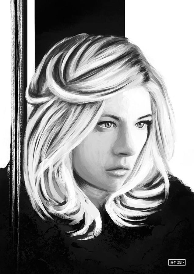 Katheryn Winnick - Digital Portrait Drawing