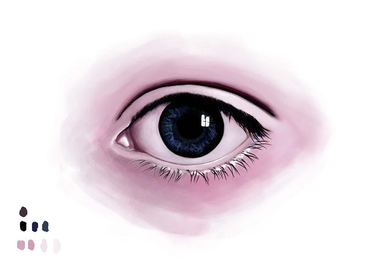 Eye Drawing Digital