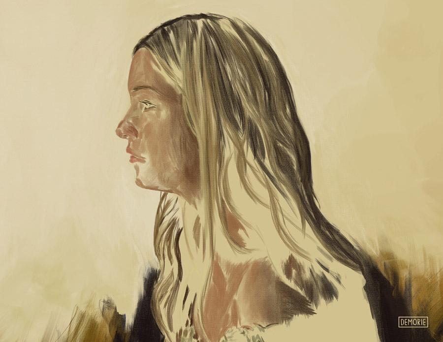 Digital Portrait Painting - Work in Progress