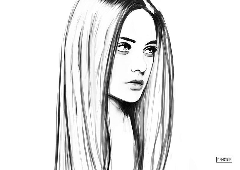 Nasty Kusakina - Digital Portrait Drawing