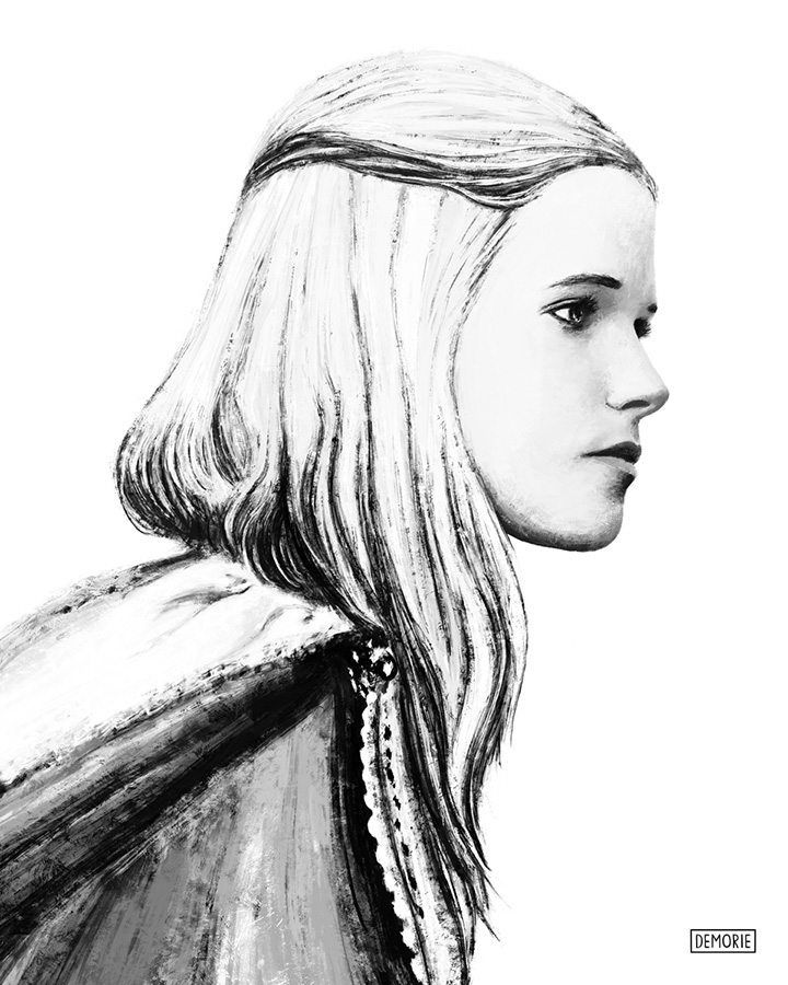Digital Portrait Drawing - Gabriella Wilde - The Three Musketeers