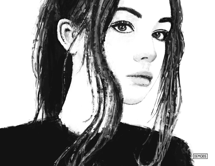 Digital Portrait Drawing - Dasha Taran