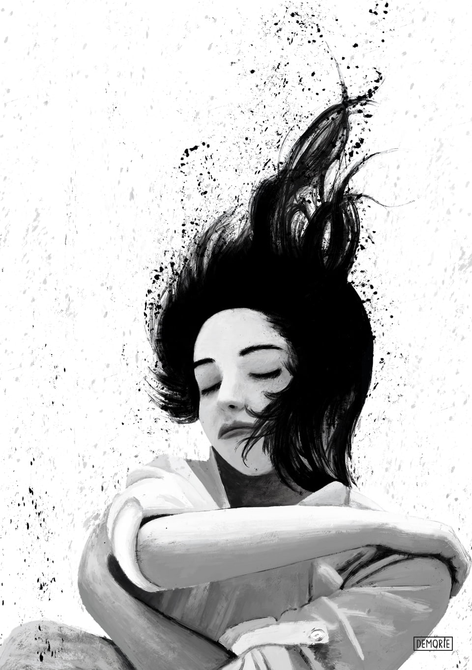 drown in sleep - digital painting