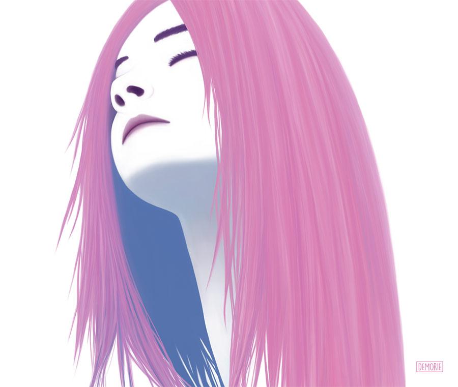 Falling dreams - Portrait Art