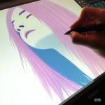 Falling Dreams - Portrait Watercolor Digital art