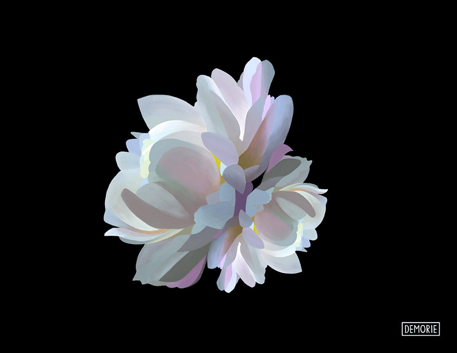 Glowing in the Dark II - Digital Flower art
