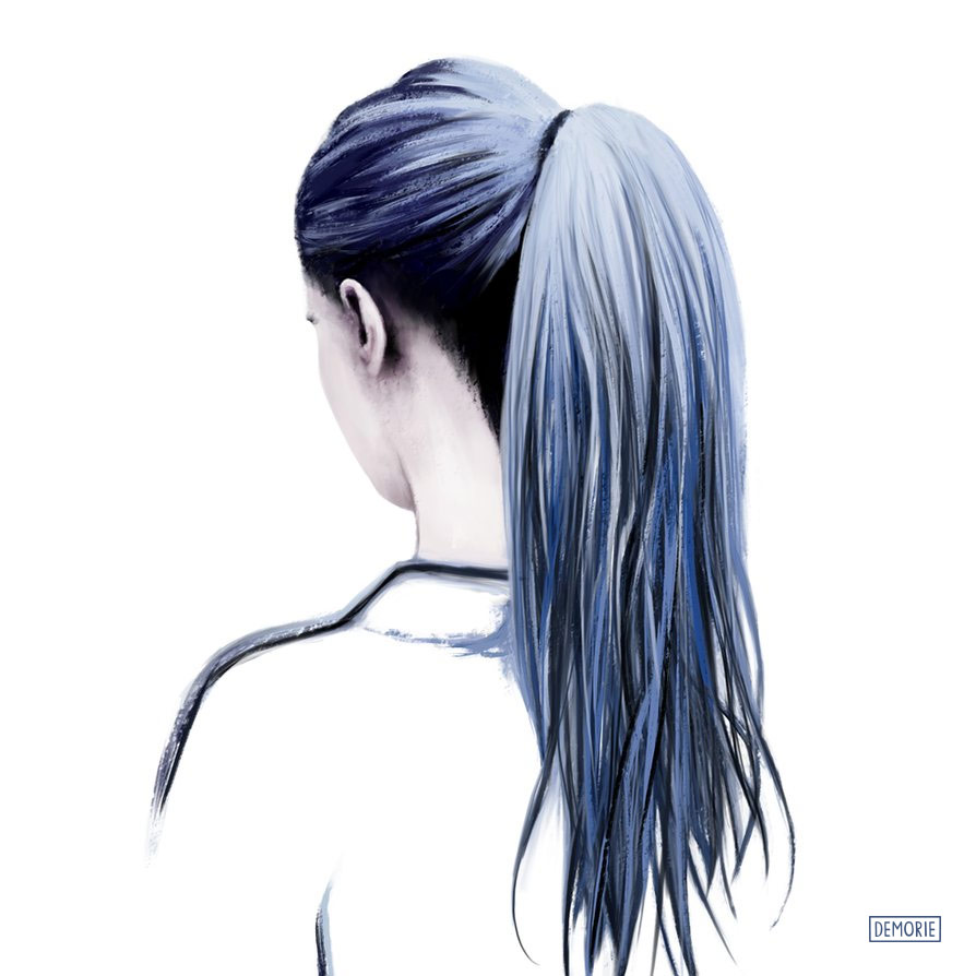 Hair Drawing - Digital Portrait Drawing