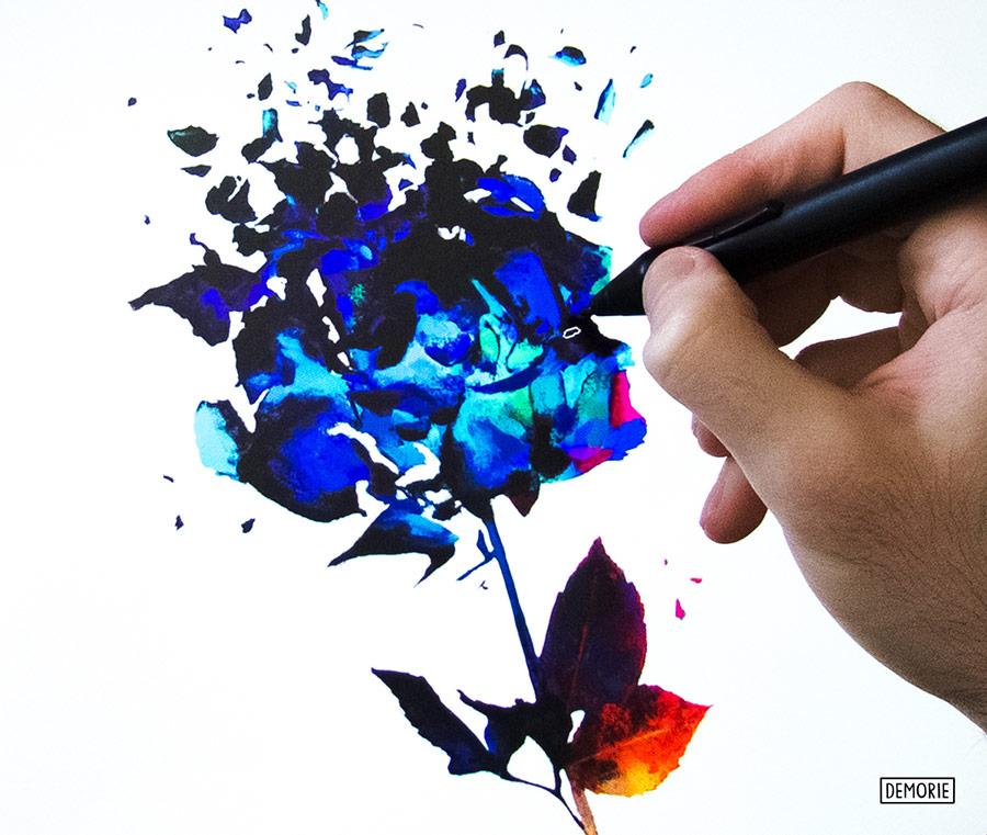 Shattering dreams - work in progress flower art