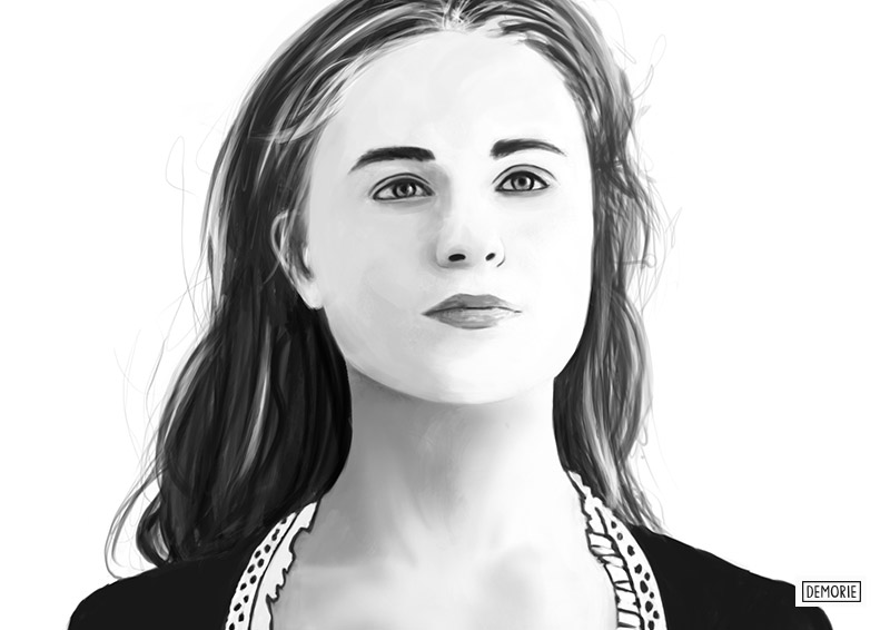 Westworld - Dolores - Digital Portrait Drawing