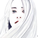 White hair girl portrait