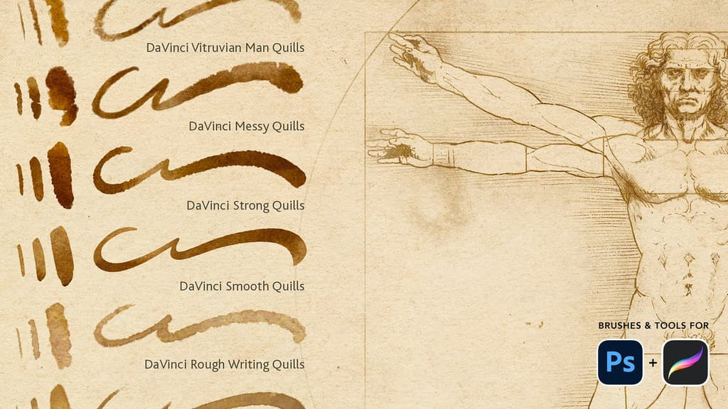 Kickstarter - Leonardo Da Vinci's Drawing Tools for Photoshop and Procreate